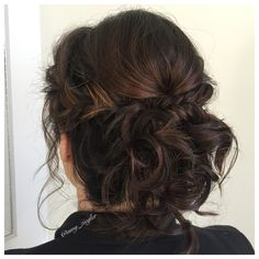 Fishtail updo on brunette by @amy_ziegler #versatilestrands#askforamy#messyupdo#braidedupdo#weddinghair
