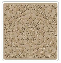 "Sizzix - Textured Impressions - 6""x6"" Embosing Folder - by Vintaj - Leaf Rosette,$8.99"