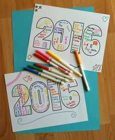 2016 Word Art Printable for Kids | Make and Takes