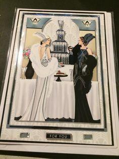 Docraft Art Deco handmade cards