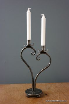 Hey, I found this really awesome Etsy listing at https://www.etsy.com/uk/listing/263715556/heart-design-candle-holder-blacksmith