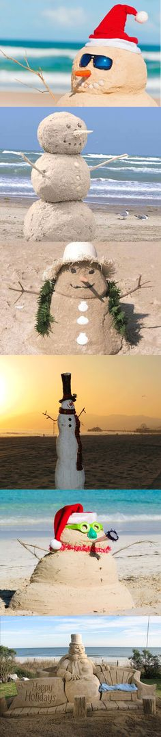 I giving snowmen the year off this winter... Going to work on building some of these instead.  #beach #holidays