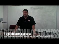 "A definition of success from ""What is success...and why you might have it already?"