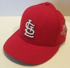 59Fifty St. Louis Cardinals Baseball Hat Cap RED Size 7 1 8 MADE IN bce6a63fd459