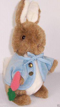 Eden Easter Bunny Peter Rabbit Brown Plush Stuffed Animal Toy Multi Color #Eden #EasterBunny