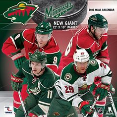 "Turner Minnesota Wild 2016 Team Wall Calendar, September 2015 - December 2016, 12 x 12"" (8011944) Turner http://www.amazon.com/dp/B00ZA0LU4A/ref=cm_sw_r_pi_dp_WMhIwb1RMR2EP"