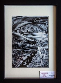 Pearlescent Hills - Original, Framed Encaustic Art Painting £29.00