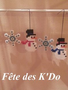 Christmas ornaments hama perler  by fetedeskdo