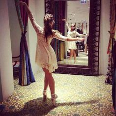 Floral Mesh Lace Dress style pic on Free People .......... everyone should do ballet in their cute boutique
