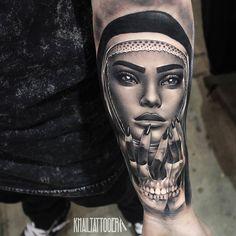 Lady Hand Skulls by @khailtattooer at Young Bloods Studio in Perth Australia. #handskulls #skulls #lady #khailtattooer #youngbloodstudios #perth #australia #tattoo #tattoos #tattoosnob