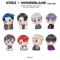 Kpop Drawings, Cute Drawings, Slogan Design, Kpop Guys, Aesthetic Stickers, Cute Chibi, K Idol, Kpop Fanart, Lilo And Stitch