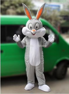 High Quality Bugs Bunny Mascot Costume Rabbit Mascot Costume Adult Party Carnival Halloween Christmas Mascot