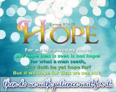 Romans 8:24-25 KJV