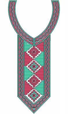 Elegant Embroidery Neck Design Machine Embroidery Patterns, Lace Embroidery, Custom Embroidery, Fabric Patterns, Cross Stitch Embroidery, Neckline Designs, Dress Neck Designs, Latest Embroidery Designs, Cross Stitch Designs