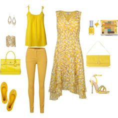 Sunny Yellow to make you smile by www.lookingstylish.co.uk, created by mfsadler on Polyvore