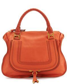 """Chloe """"Marcie"""" Large Leather Shoulder Bag  $1,399.99 $2,050.00"""