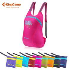 KingCamp 접이식 12L 초경량 방수 가방 휴대용 여행 스포츠 가방 여성의 배낭 등산 가방 여성