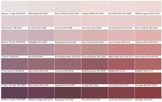 Sw Sherwin Williams Sw6280 Mauve Tinge Sw6281 Wallflower Sw6282 Finery Sw6283 Thistle Sw6284 Plum Dandy Sw6285 Grape Harvest Sw6286
