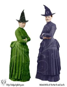 Wicked Witches of the North and South Digital JPG by indigochyld, $2.00
