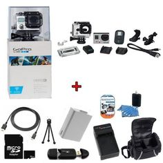 GoPro HERO3: White Edition Camera (CHDHE-301) w/ SSE Kit: Includes 32GB SDHC High Speed Memory Card, High Speed Card Reader, Extended Life Battery, External Rapid Home & Travel Charger, Deluxe Case, HDMI Cables + More