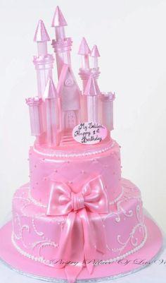 Pastry Palace Las Vegas - Kid's Cake #1072-Pink Princess Castle