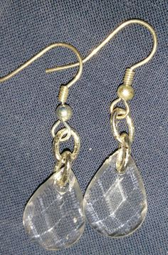 Flat Crystal Cut larger tear drops-Clear by PleinDesign on Etsy