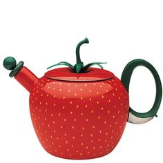 No matter how you prefer your tea....this kettle is so sweet (and on sale...)!  [Strawberry Kettle now featured on Fab.]