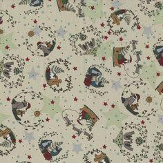 Tissu Noël et Pain d'Epices Collection Starry Night Lynette Anderson - .
