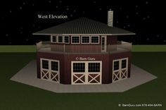 4 stall horse barn with apartment design plan