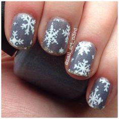 Snowflakes by nail_art_n3rd  #nail #nails #nailart