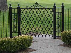 Classic Wrought Iron Garden Gates | Modern Fence Ideas