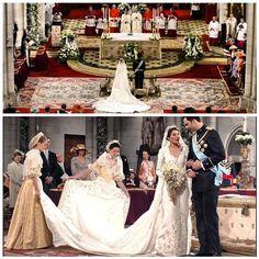 The wedding of Felipe, Prince of Asturias, and Letizia Ortiz, 22 May 2004. - @princess_monaco- #webstagram