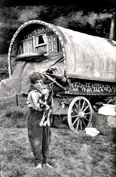 Gypsy boy & his dog