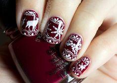#winter nail art ideas, sweater inspired!