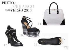 Lançamento Arezzo: coleção Alto Verão 2013 / Summer 2013. Preto e Branco no Verão 2013, até nos pés.
