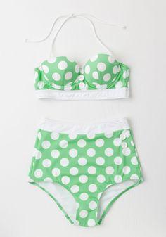 Seasons of the Sun Swimsuit Top in Mint
