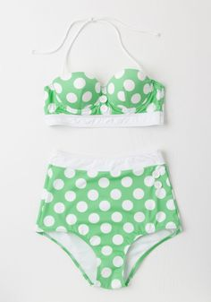 Seasons of the Sun Swimsuit Top in Mint. Soaking up the sun never looked so stylish as when you welcomed this bikini into your wardrobe! #mint #modcloth