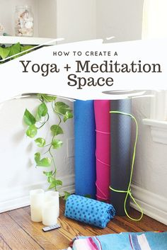 Create A Yoga + Meditation Space To Bliss Out At Home | theinspiredhome.com @ihainspiredhome