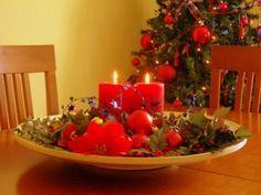 Centros de mesa para Navidad.