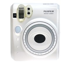 Fuji Instax Mini 50s in Piano White. Sleek, sexy minimalist design. Shop Instax cameras at cheapest price with FREE Shipping Worldwide at EyeCandy's.
