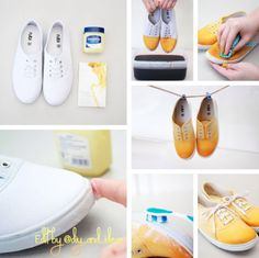 Diy ombre shoes