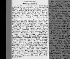 Catherine Hensey Margaret Doyle, JJ Doyle Variety Shower The Scranton Republic 15 Aug 1924