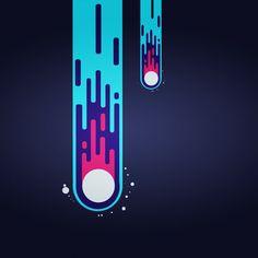 Meteor  #Flat_Design  #Adobe_illustrator_CS6