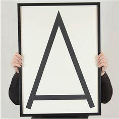 Letter Print - A by Zwölf
