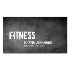 Chalkboard Pattern Personal Trainer Business Card. I love this design! It is available for customization or ready to buy as is. All you need is to add your business info to this template then place the order. It will ship within 24 hours. Just click the image to make your own!