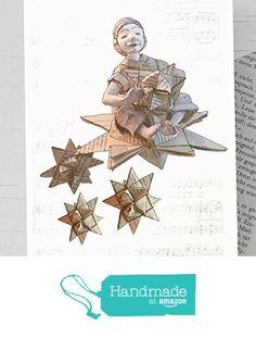 Für Leseratten und Bücherwürmer: Weihnachtskarte Engel, Recyclingkarte mit handgemachtem Umschlag aus Buchseiten, weihnachtliche Karte mit kleinem Engel und Fröbelstern, Karte Fröbelstern, Weihnachtskarte Sternschnuppe von der Atelier Dorothea Koch https://www.amazon.de/dp/B01M6WIGRJ/ref=hnd_sw_r_pi_dp_fJAjybDN57SST #handmadeatamazon