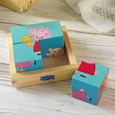 Your little one will love this personalised puzzle blocks featuring Peppa Pig.