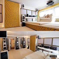 A project with Artnovion Gold Sahara's acoustical panels. Stunning!