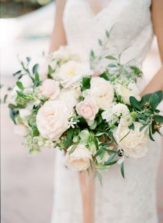 Wedding Bouquets : Picture Description Cream and blush wedding bouquet: Photography : Koman Photography Read More on SMP: www. Floral Wedding, Wedding Colors, Wedding Flowers, Farm Wedding, Wedding Day, Wedding Bells, Rustic Wedding, Apricot Wedding, Wedding Peach