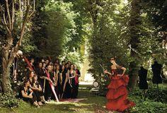 Natalia Vodianova in Christian Lacroix Haute Couture.
